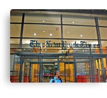Security Guard, Entrance, New York Times Bldg, NYC Metal Print