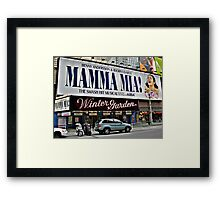 Mamma Mia, Winter Garden Theatre, Times Square, NYC Framed Print