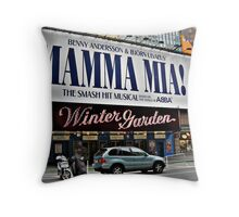 Mamma Mia, Winter Garden Theatre, Times Square, NYC Throw Pillow