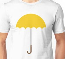 Flat Yellow Umbrella Unisex T-Shirt