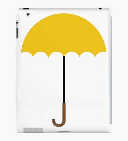 Flat Yellow Umbrella iPad Case/Skin