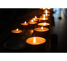 Memorial candles Photographic Print
