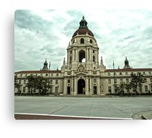 Pasadena City Hall in (high dynamic range) Canvas Print