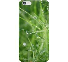 Dew on the grass iPhone Case/Skin