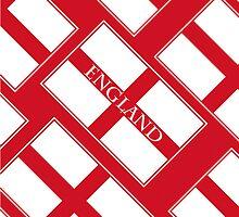 Smartphone Case - Flag of England  - Diagonal Named by Mark Podger