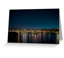 City Lights of Port Washington Greeting Card