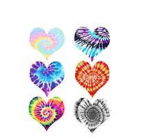 Tie Dye Hearts Photographic Print