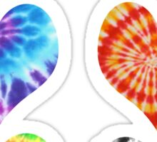 Tie Dye Hearts Sticker