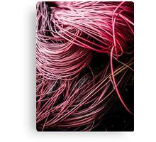 Red Yarn Canvas Print
