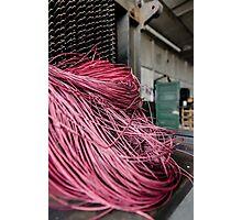 Red Yarn on Machine Photographic Print