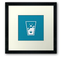Pessimistic - Optimistic Framed Print