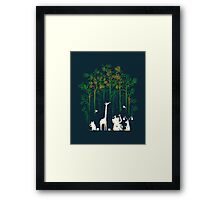 Re-paint the forest Framed Print