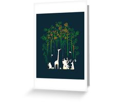 Re-paint the forest Greeting Card