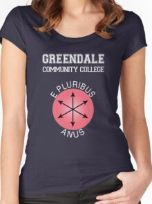 Greendale - E Pluribus Anus Women's Fitted Scoop T-Shirt