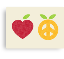 Apple and Orange - Peace and Love Canvas Print