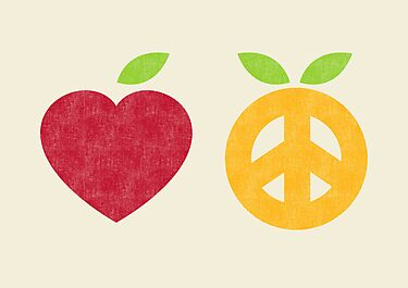 Apple and Orange - Peace and Love by Budi Satria Kwan