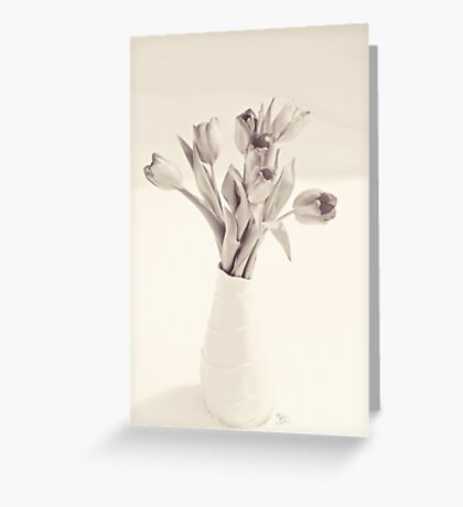 Tulips Toned Greeting Card