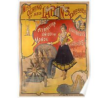 Poster advertising the show 'Miss Olwing and her Rabbits' (color litho) Poster