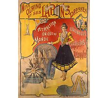 Poster advertising the show 'Miss Olwing and her Rabbits' (color litho) Photographic Print