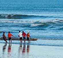 Pulling in the Net 2 - Playas, Ecuador by Paul Wolf