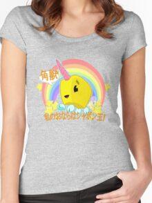 Uni-Corn Women's Fitted Scoop T-Shirt