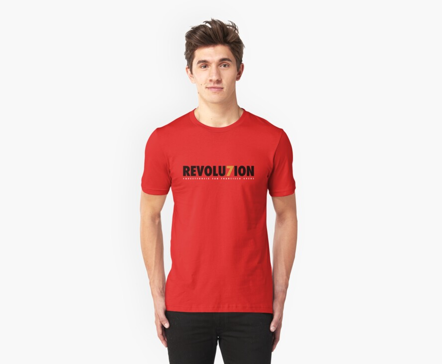 "49ERS ""REVOLU7ION"" T-SHIRT (RED) by JaymanCreative"