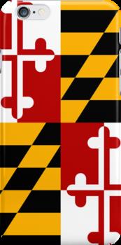 Smartphone Case - State Flag of Maryland  - Vertical by Mark Podger