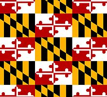 Smartphone Case - State Flag of Maryland  - Patchwork by Mark Podger