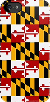 Iphone Case - State Flag of Maryland  - Patchwork by Mark Podger
