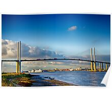 Queen Elizabeth ll Bridge 2 Poster