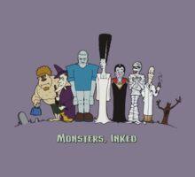 Monsters, Inked: Family Portrait Kids Tee
