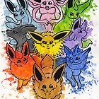 The Eeveelutions by MagenWorks