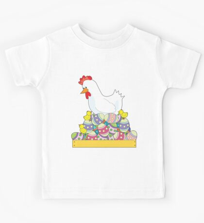Chicken Easter Eggs Kids Tee