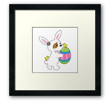 Cute Puppy Bunny Suit Framed Print
