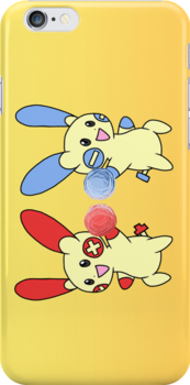 Plusle and Minun by RubyTruffles