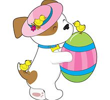 Cute Puppy Easter Egg by Maria Bell