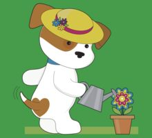 Cute Puppy Plant Baby Tee