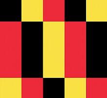 Smartphone Case - Flag of Belgium  - Patchwork by Mark Podger