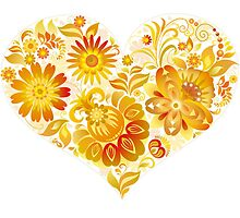 Flowery Heart by SandraWidner