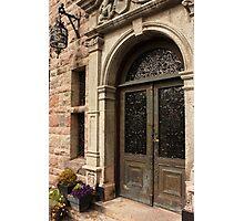 Antique Brass Door with Verdigris Patina Photographic Print