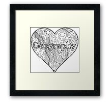 Geography Heart Framed Print
