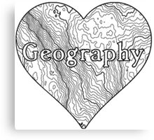 Geography Heart Canvas Print