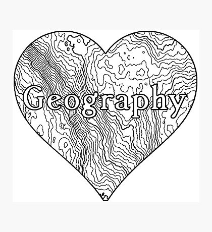 Geography Heart Photographic Print