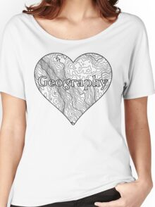 Geography Heart Women's Relaxed Fit T-Shirt