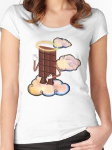 May Chocolate god bless you! Women's Fitted Scoop T-Shirt