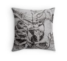 Abstracted Pelvis Throw Pillow