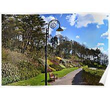 Lyme Town Gardens, Dorset UK Poster
