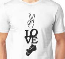 MazziMaz Tee - Peace, Love and Rubber Gloves Unisex T-Shirt