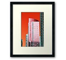 Skyscraper Red Framed Print