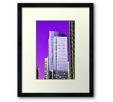 Skyscraper Purple Framed Print